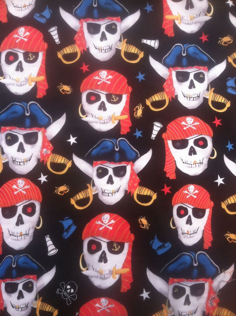 CUSTOM Pirate Skulls--Woven Hybrid