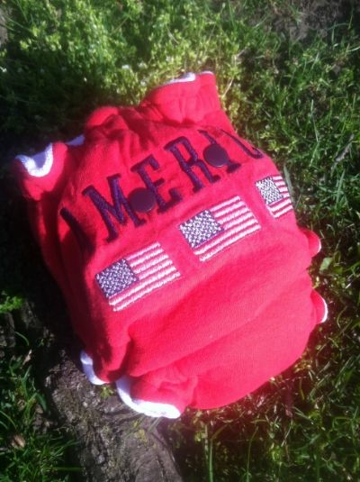 America (white CV)--Knit Hybrid {upcycled tee}
